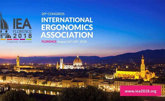IEA International Ergonomics Association 2018 – 20° CONGRESSO INTERNAZIONALE A FIRENZE